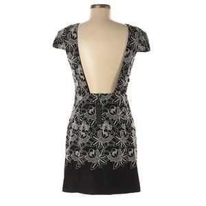 TIBI Floral Embroidered Backless Dress NWT